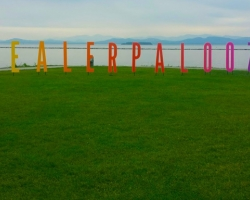 Life Size Printed Letter, Installed on the Burlington Waterfront