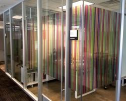 Detail: Printed Glass Film Installation