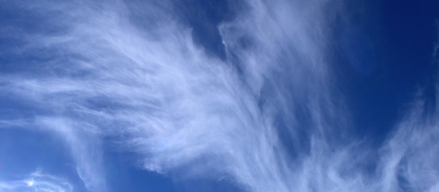 Media and Substrates: Bright Blue Skye with Clouds