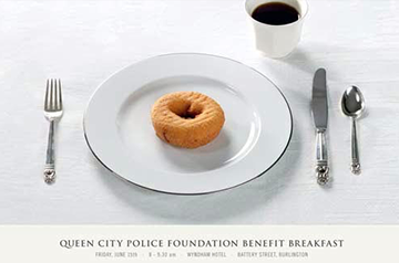 Place Setting with Donut and Coffee