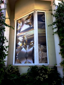 Altiers Jewelers window graphics on day/night film