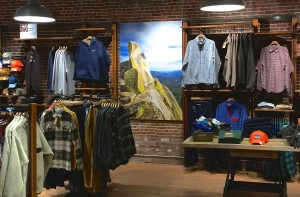 In-store retail graphics for Patagonia on sustainable panels
