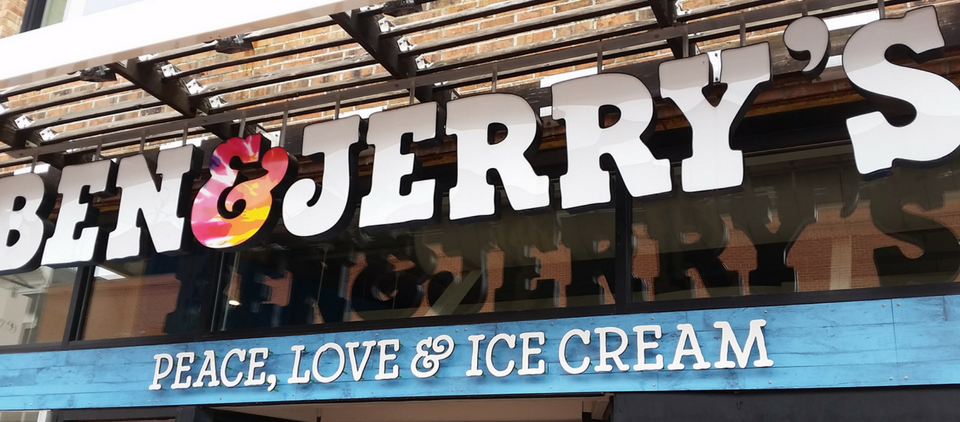 Custom Marketing Graphics for Ben and Jerrys Schoop SHop